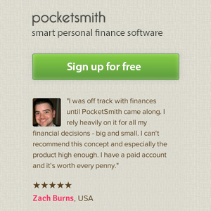 Sign up to PocketSmith - Smart Personal Finance Software